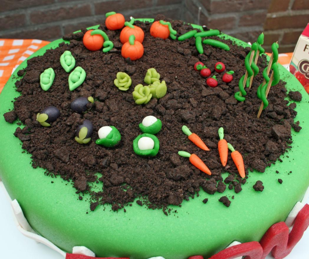 marsepeintaart groentetuin